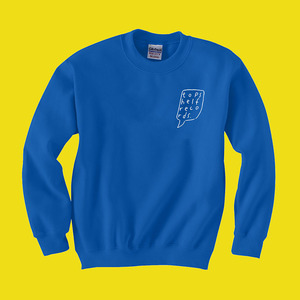 Topshelf Records - Logo Crewneck Sweater (Royal Blue)