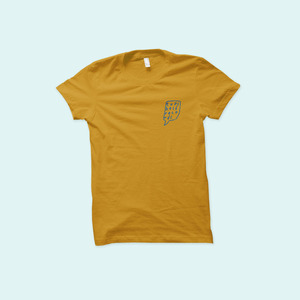Topshelf Records - Logo Tee (Gold)