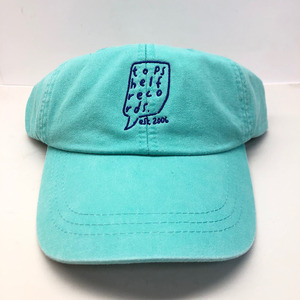 Topshelf Records - Sea Foam Green Embroidered Logo Baseball Hat