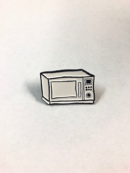Microwave Sketch Enamel Pin