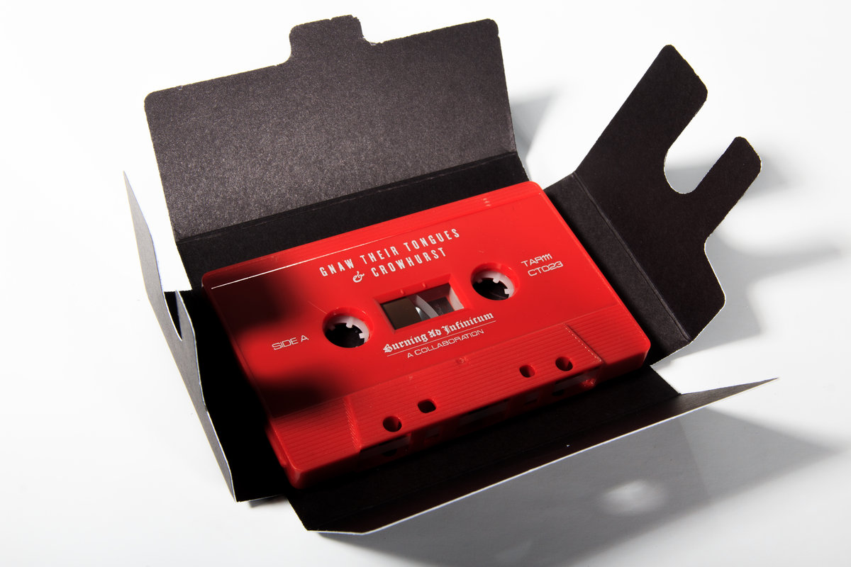 GNAW THEIR TONGUES / CROWHURST - BURNING AD INFINITUM TAPE