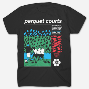 Parquet Courts TOTAL FOOTBALL BLACK T-SHIRT