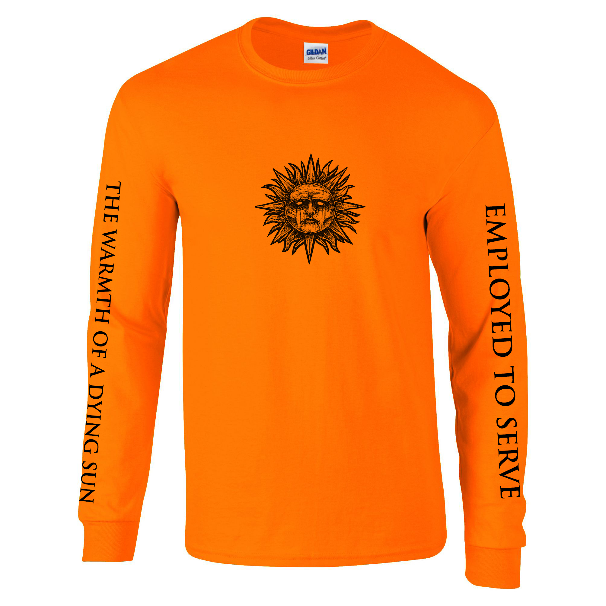 Employed To Serve - The Warmth Of A Dying Sun orange long sleeve PREORDER