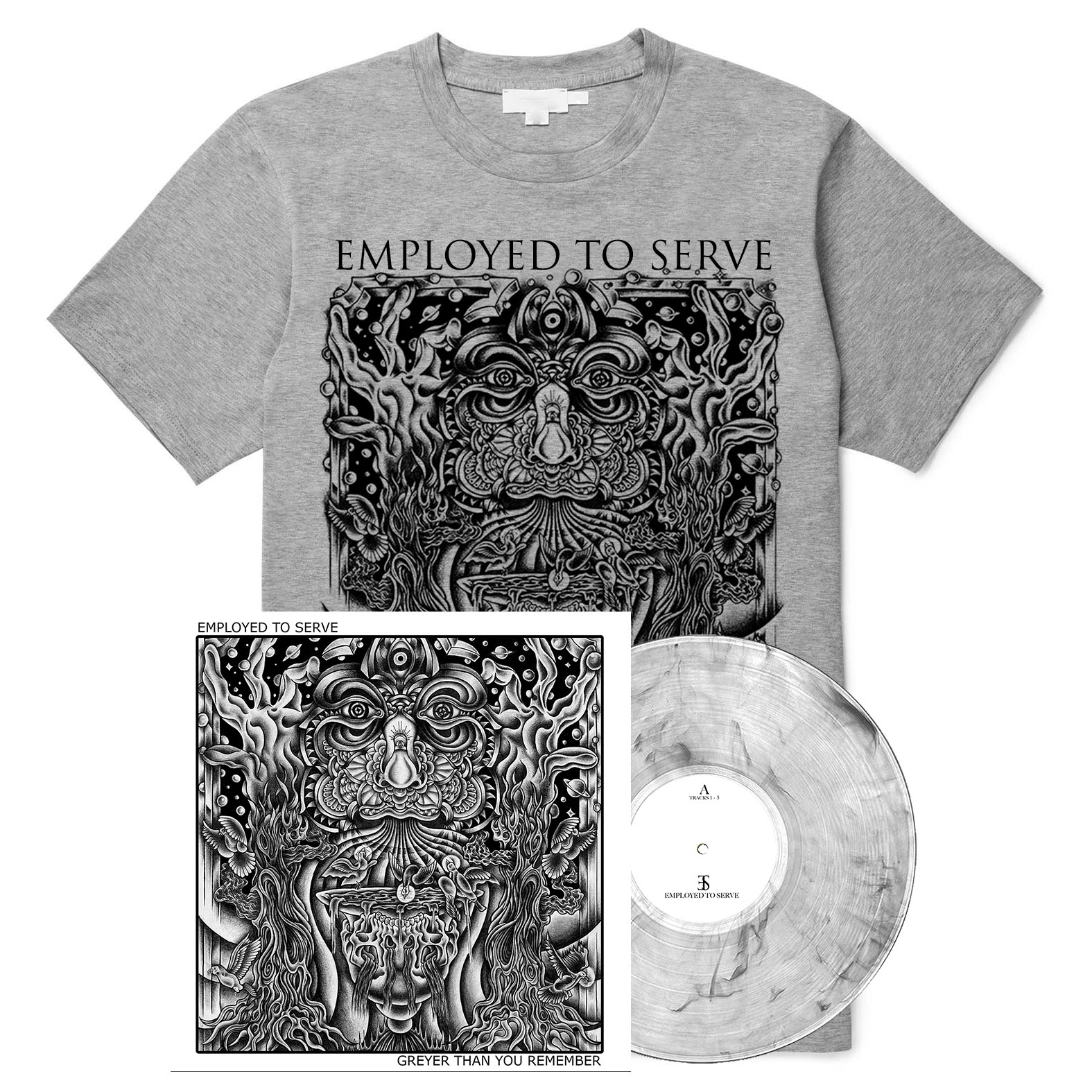 Employed To Serve - Greyer Than You Remember shirt + LP