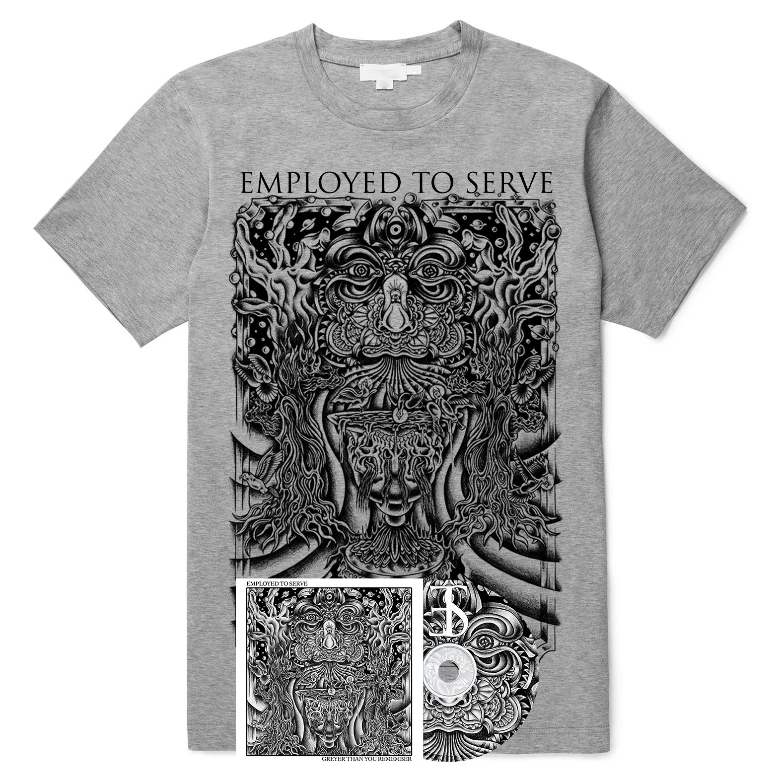 Employed To Serve - Greyer Than You Remember shirt + CD