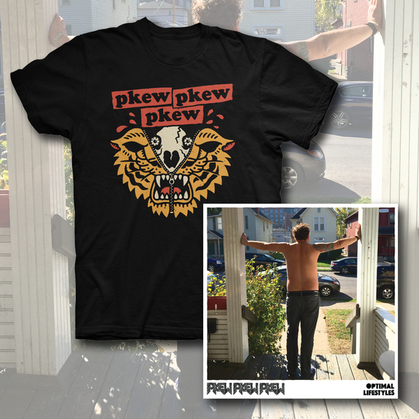 Pkew Pkew Pkew – Optimal Lifestyles LP/T-Shirt Bundle - PREORDER