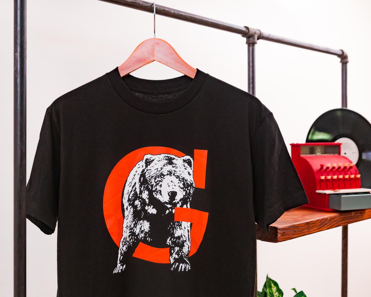 Black G Bear Tee