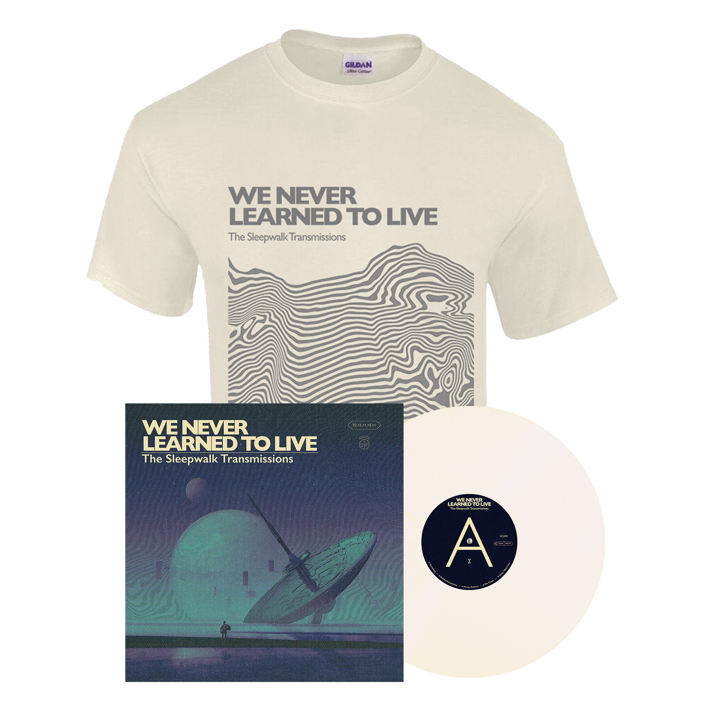 We Never Learned To Live - The Sleepwalk Transmissions LP + shirt