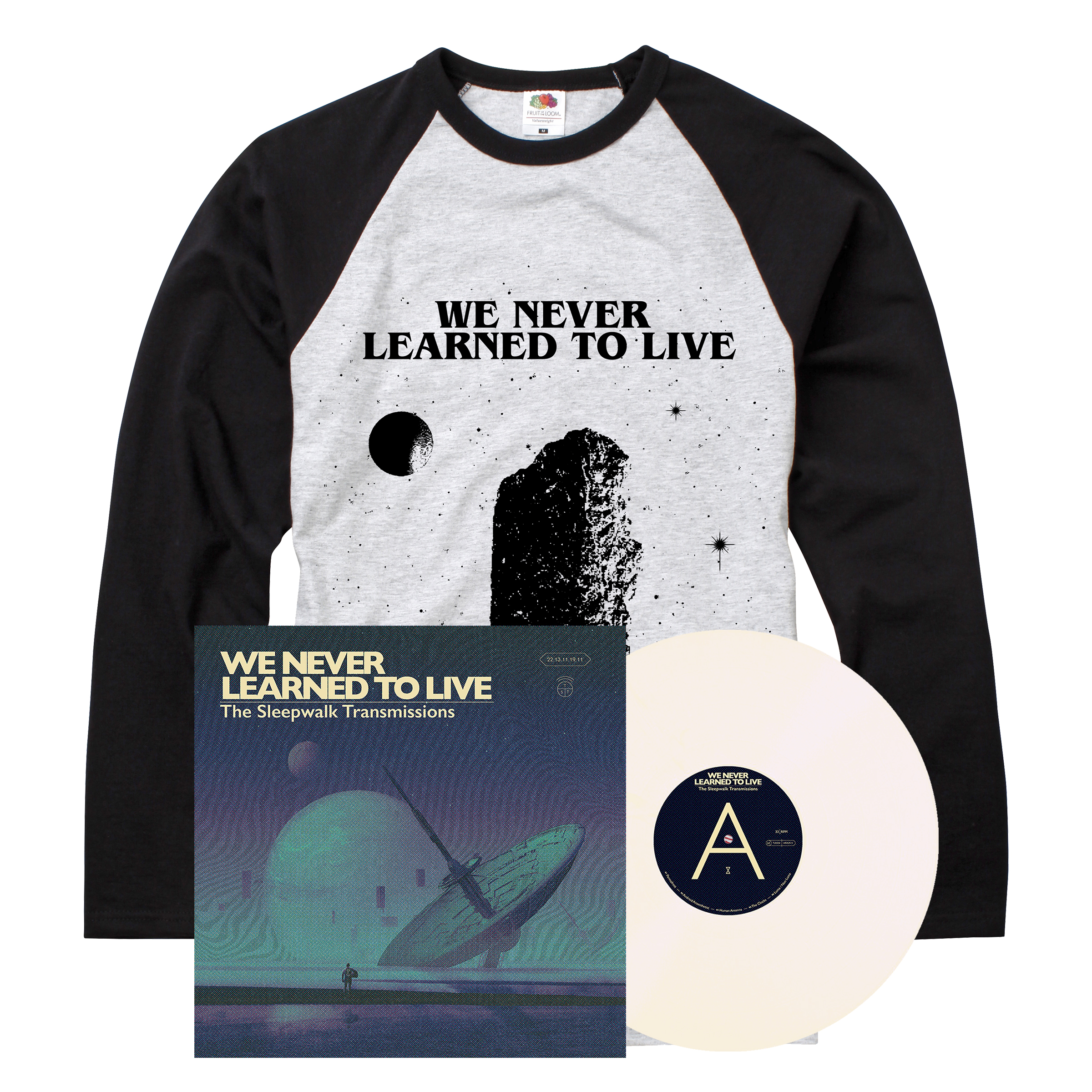 We Never Learned To Live - The Sleepwalk Transmissions LP + long sleeve
