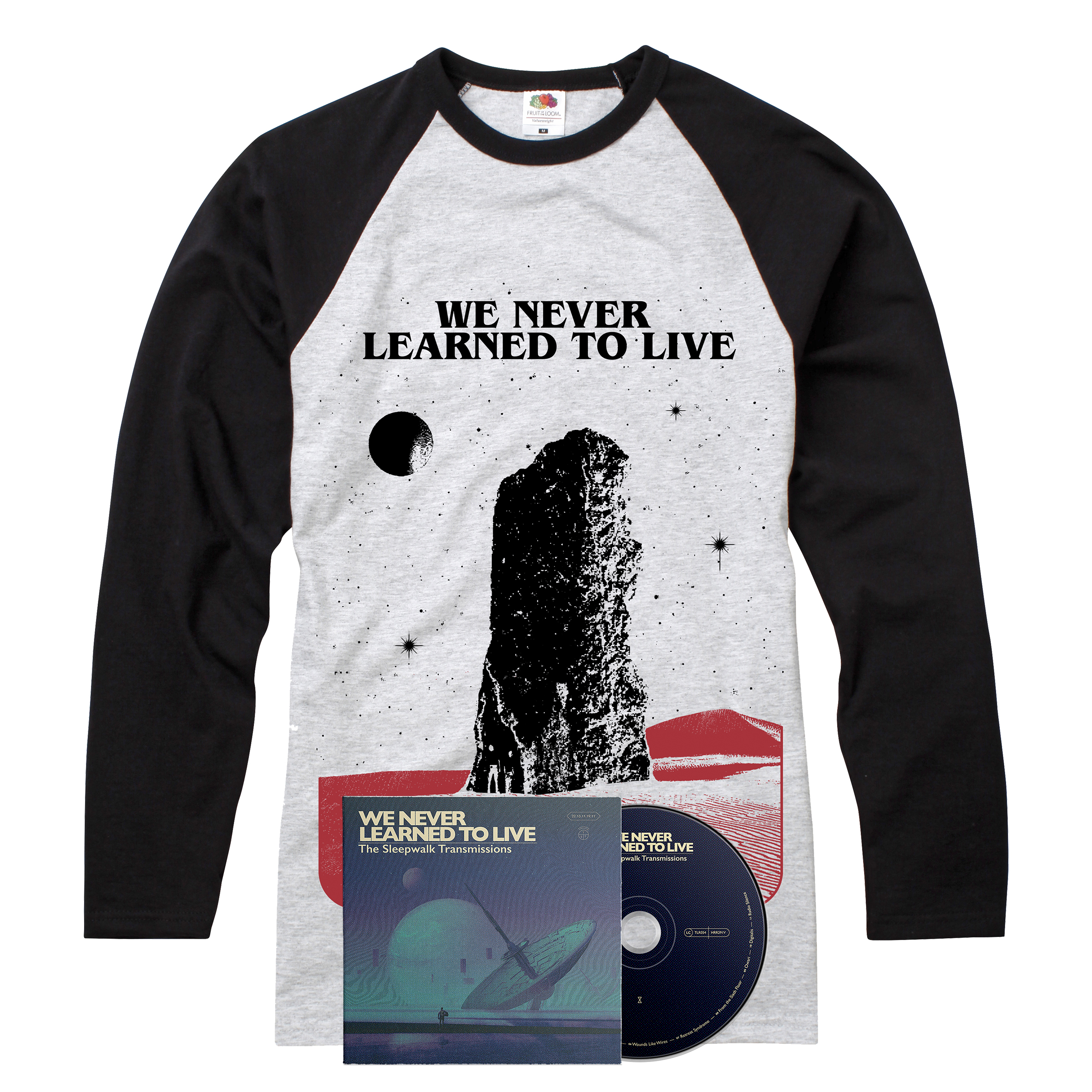 We Never Learned To Live - The Sleepwalk Transmissions CD + long sleeve