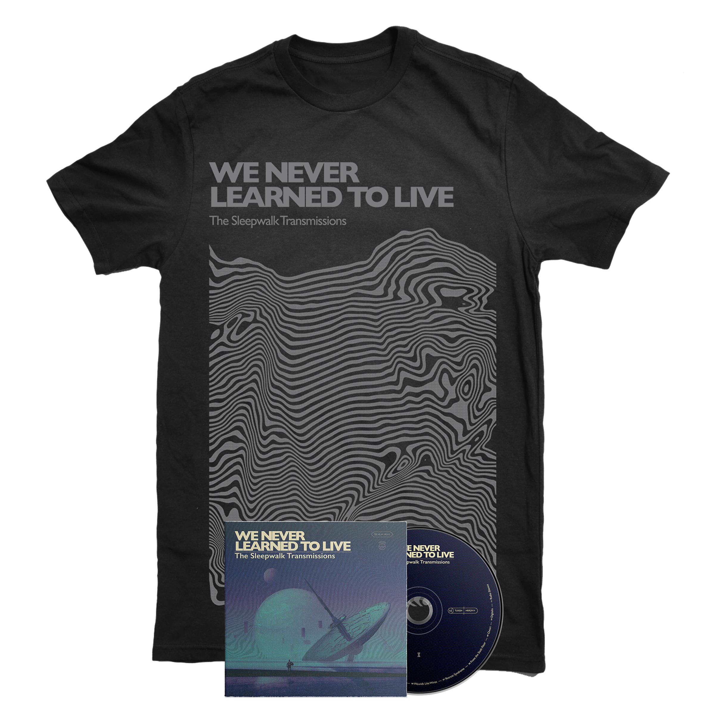 We Never Learned To Live - The Sleepwalk Transmissions CD + shirt