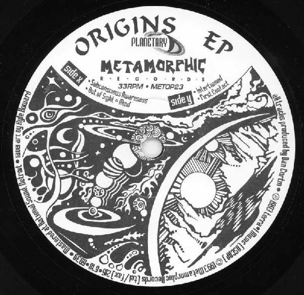 Planetary ‎– Origins EP (Metamorphic Recordings)