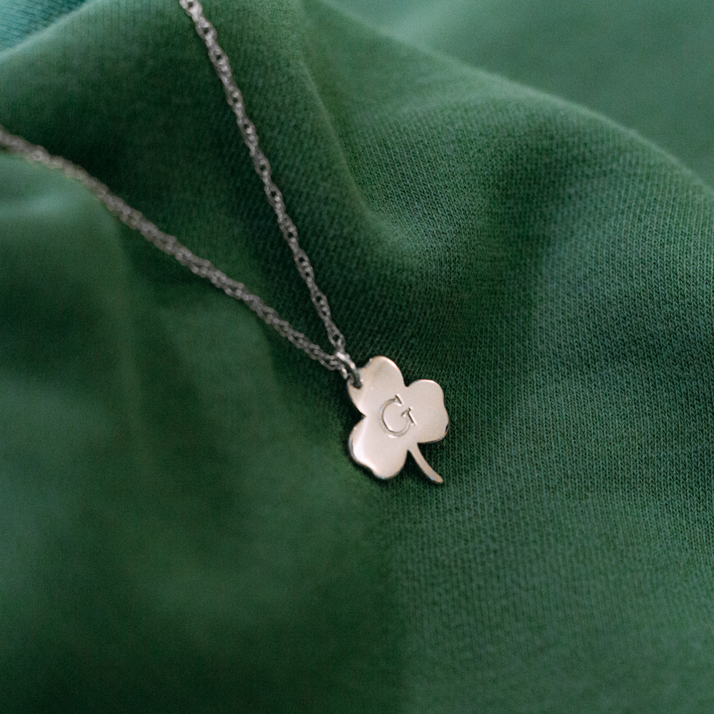Silver Clover Charm Necklace