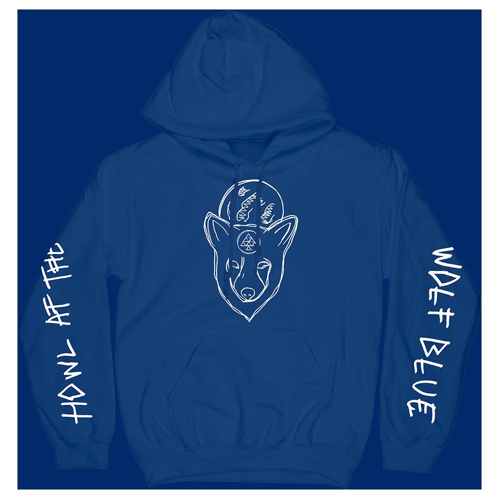WOLF BLUE HOODIE