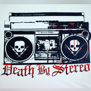 Death By Stereo - Bloody Boom Box White T-Shirt