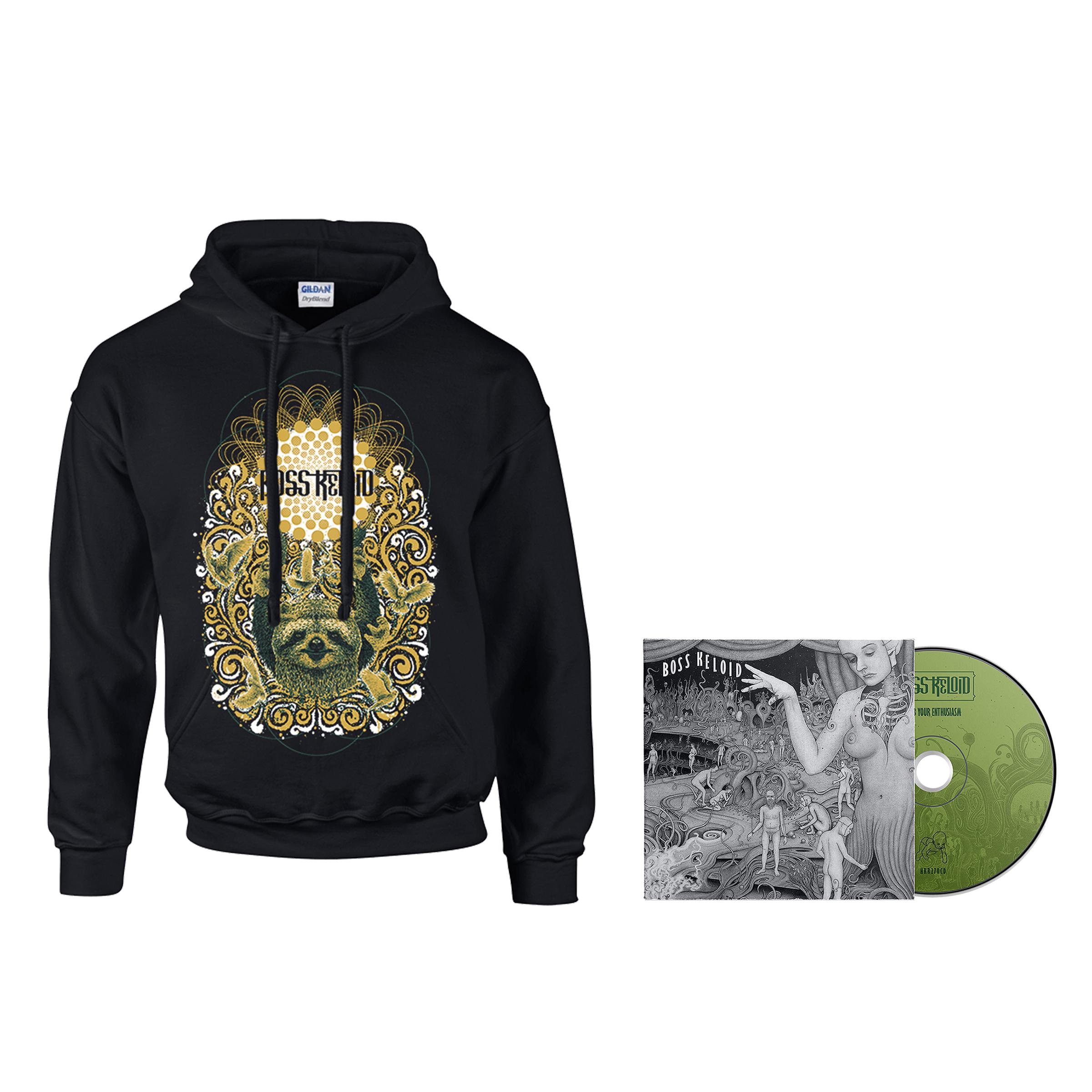 Boss Keloid - Herb Your Enthusiasm hoodie + CD