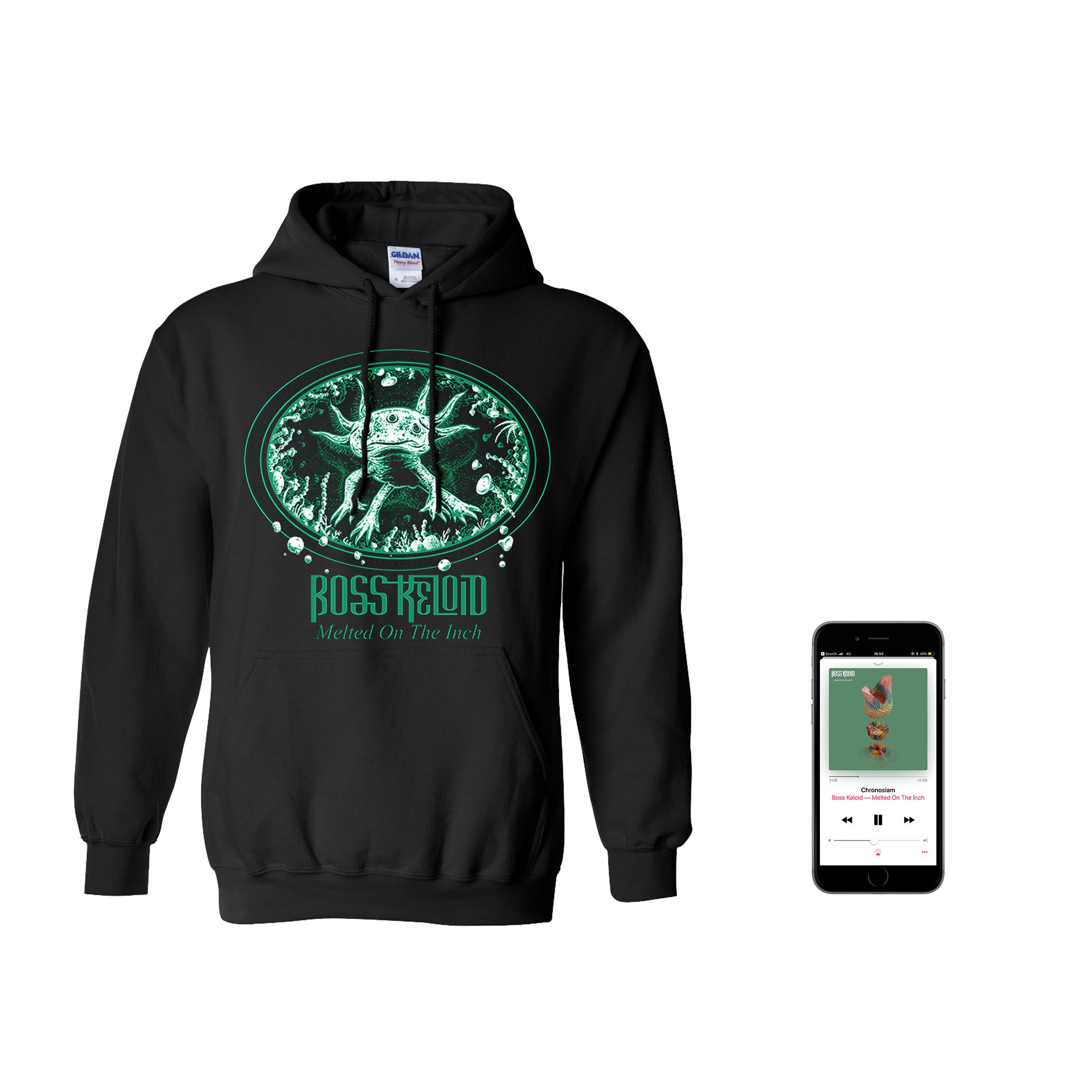 Boss Keloid 'Melted...' Axolotl hoodie + digital download