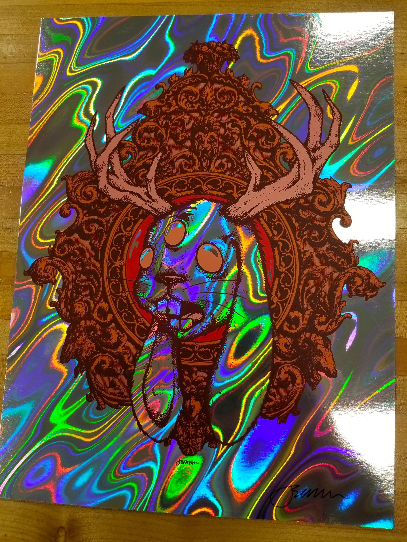 NEW - 'JACKALOPE' Mini Art Print (Full Color LAVA FOIL Variants)
