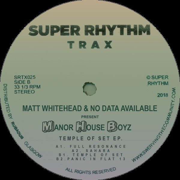 Matt Whitehead & No Data Available ‎– Temple Of Set EP (Super Rhythm Trax)