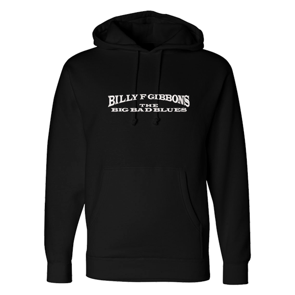 The Big Bad Blues Embroidered Black Hoodie