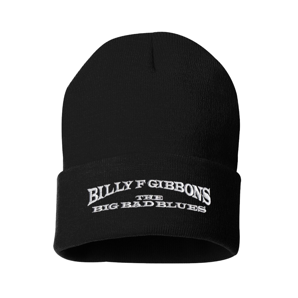 "The Big Bad Blues Embroidered 12"" Black Knit Cap"