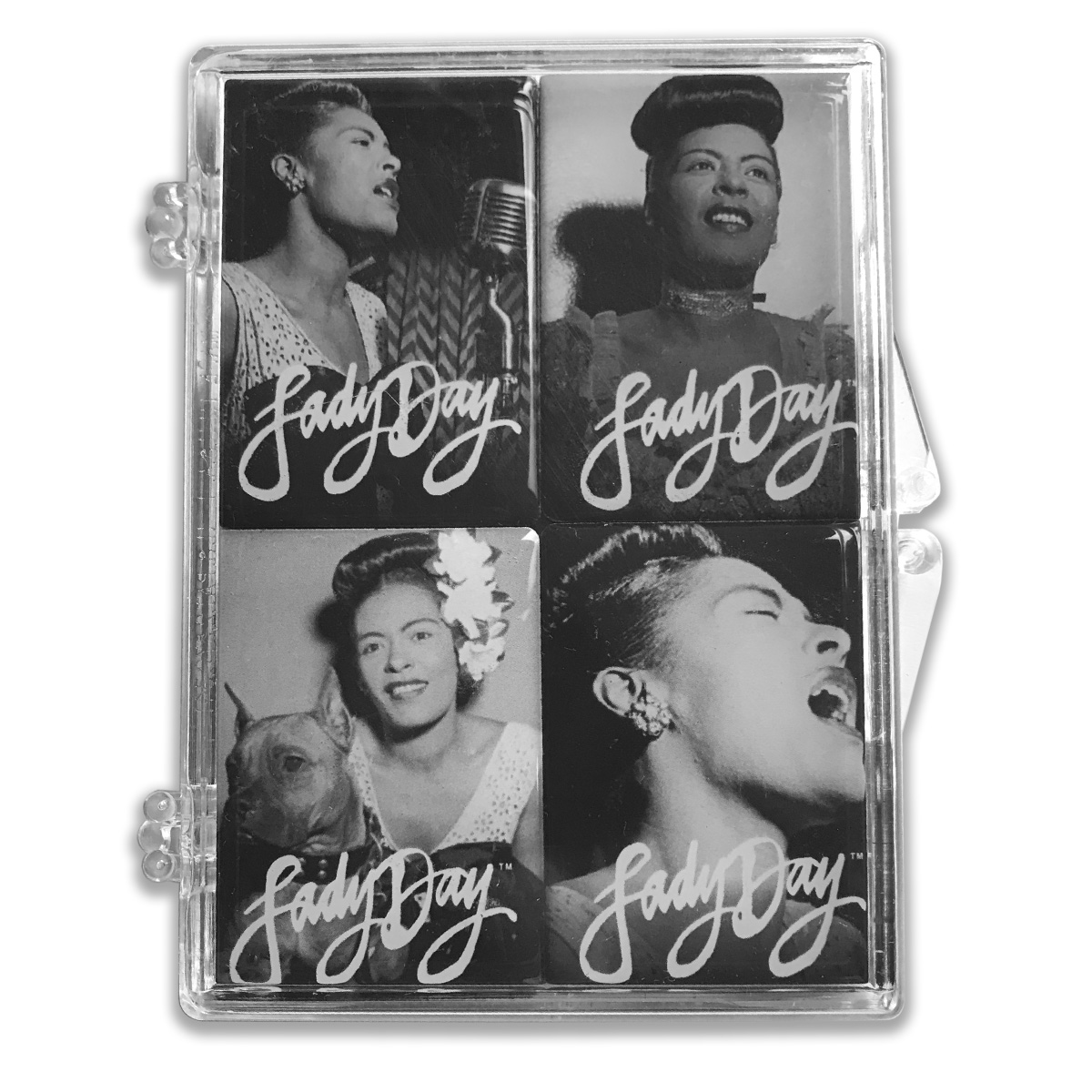 Lady Day Black & White Magnet Set