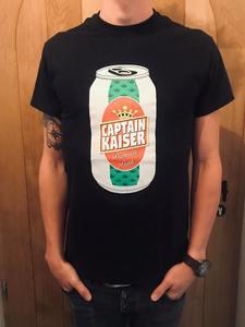 Captain Kaiser - Beer can shirt (black)
