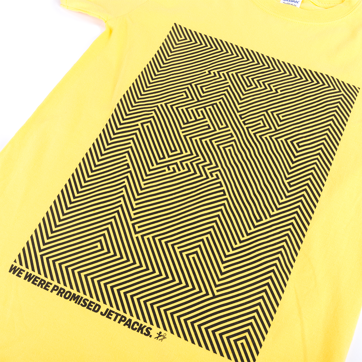 Unraveling Yellow Shirt (with Black Print)
