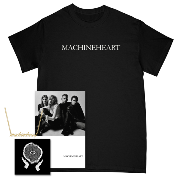 Machineheart Tee + Necklace + Signed Poster