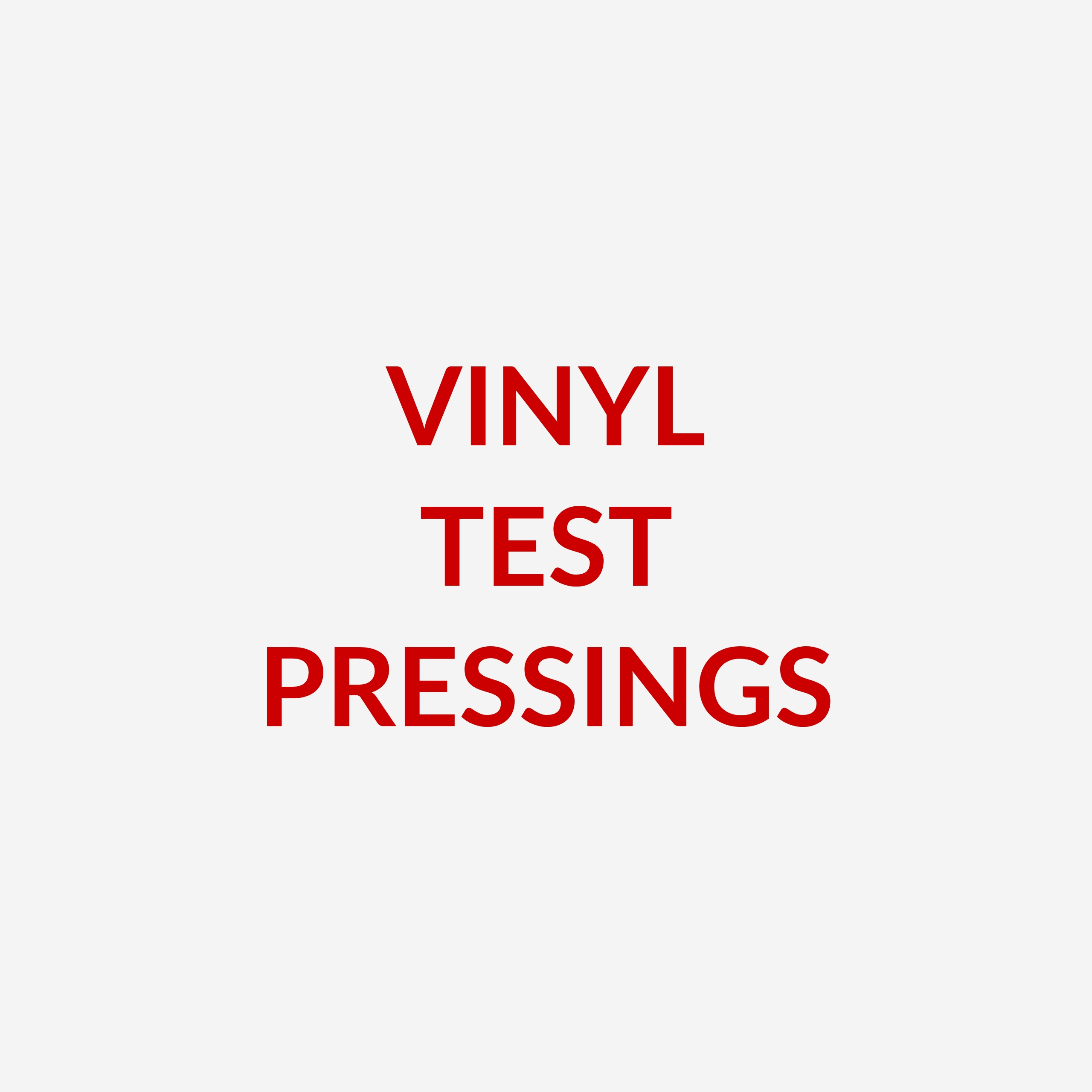 Vinyl Test Pressings