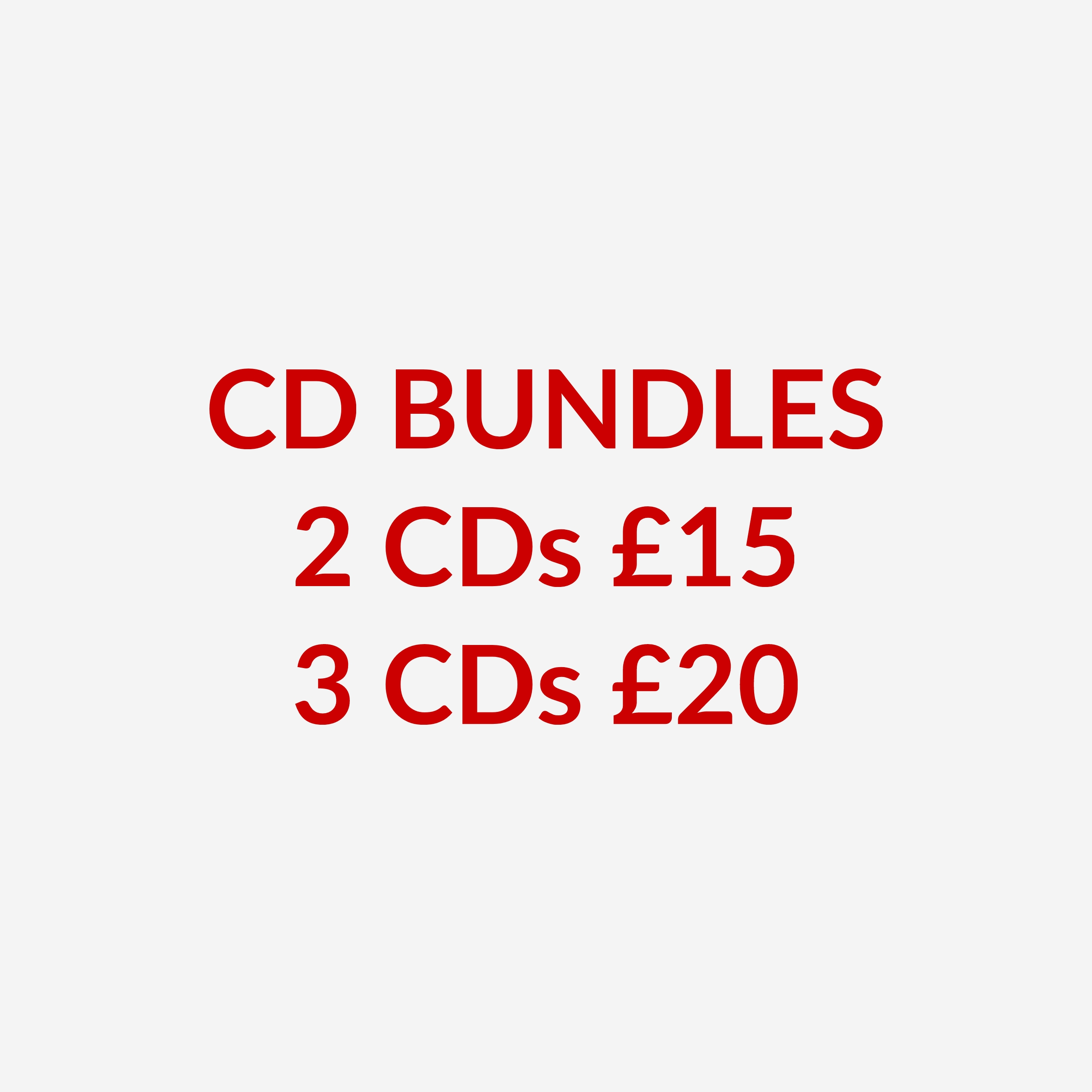 CD Bundles