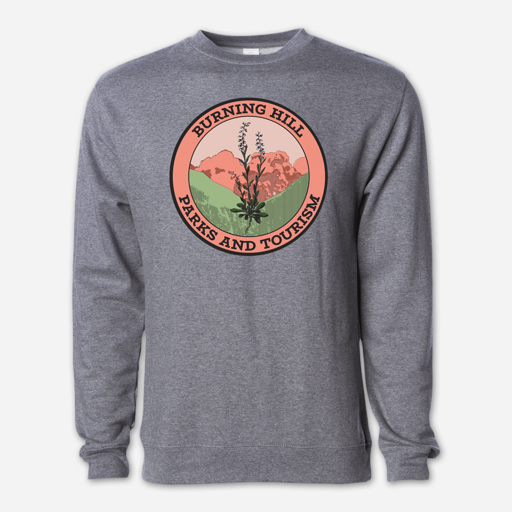 Burning Hill Parks & Tourism Heather Grey Sweatshirt
