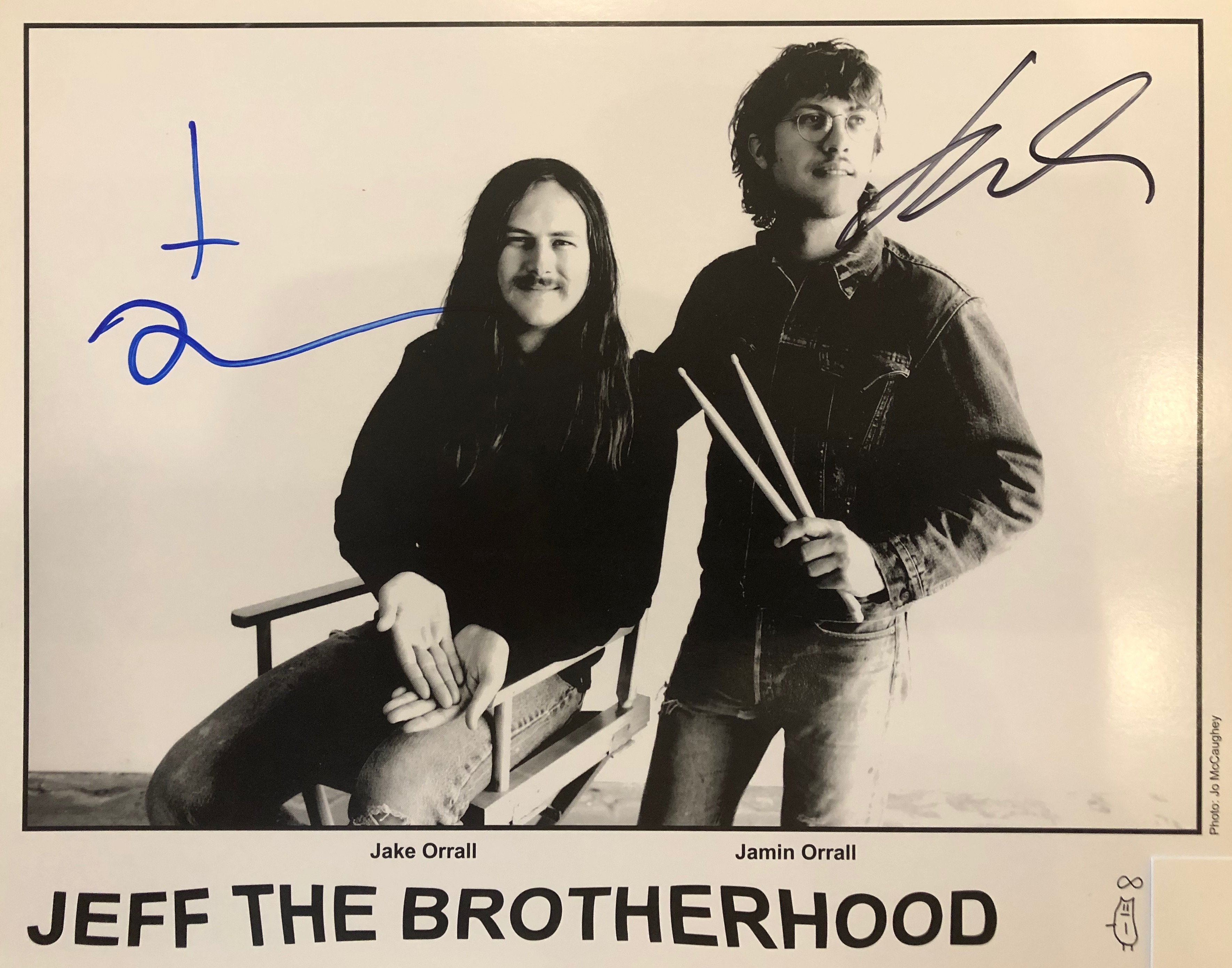 JEFF The Brotherhood 4Pack w/ signed photo and bumper sticker