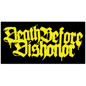 Death Before Dishonor 'Logo' Yellow Sticker