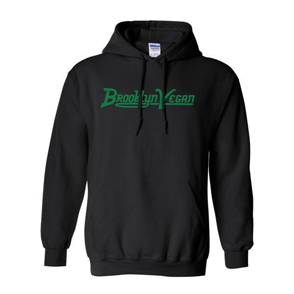 Black Classic Logo Hoody (Green Print)