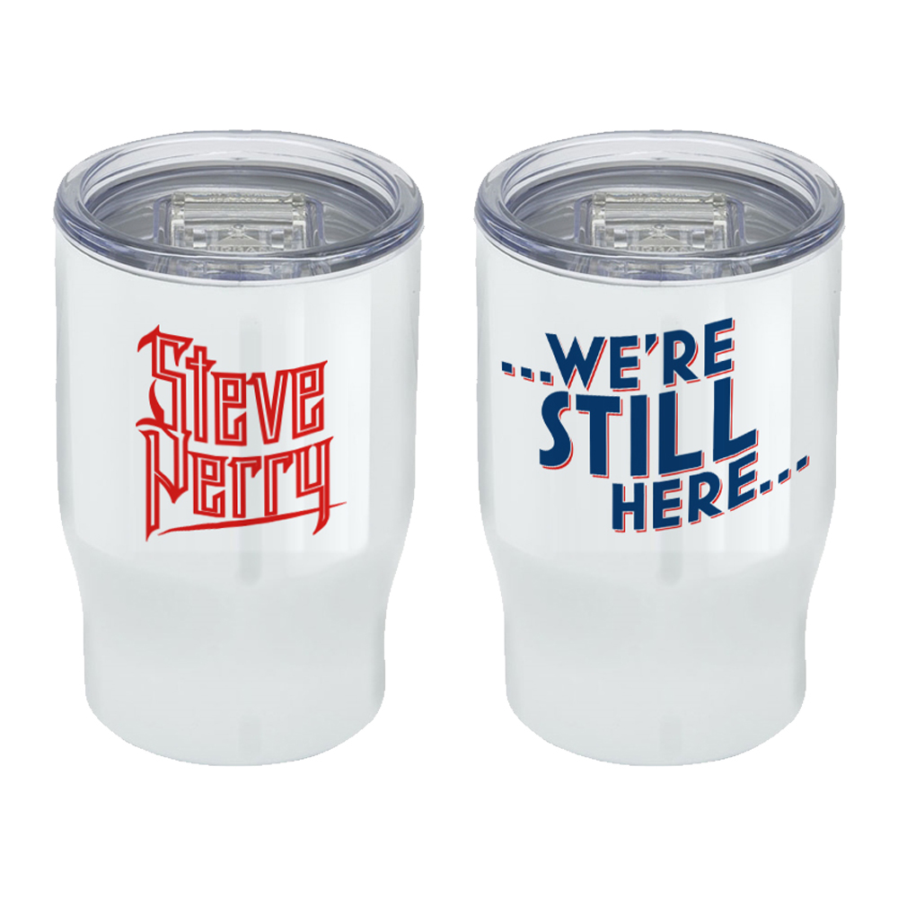 """We're Still Here"" 12 oz, 3-in-1 Stainless Steel Tumbler & Can Cooler + 15-Track Album Bundle (optional)"