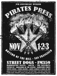 Pirates Press Records 9 Year Anniversary Party Posters
