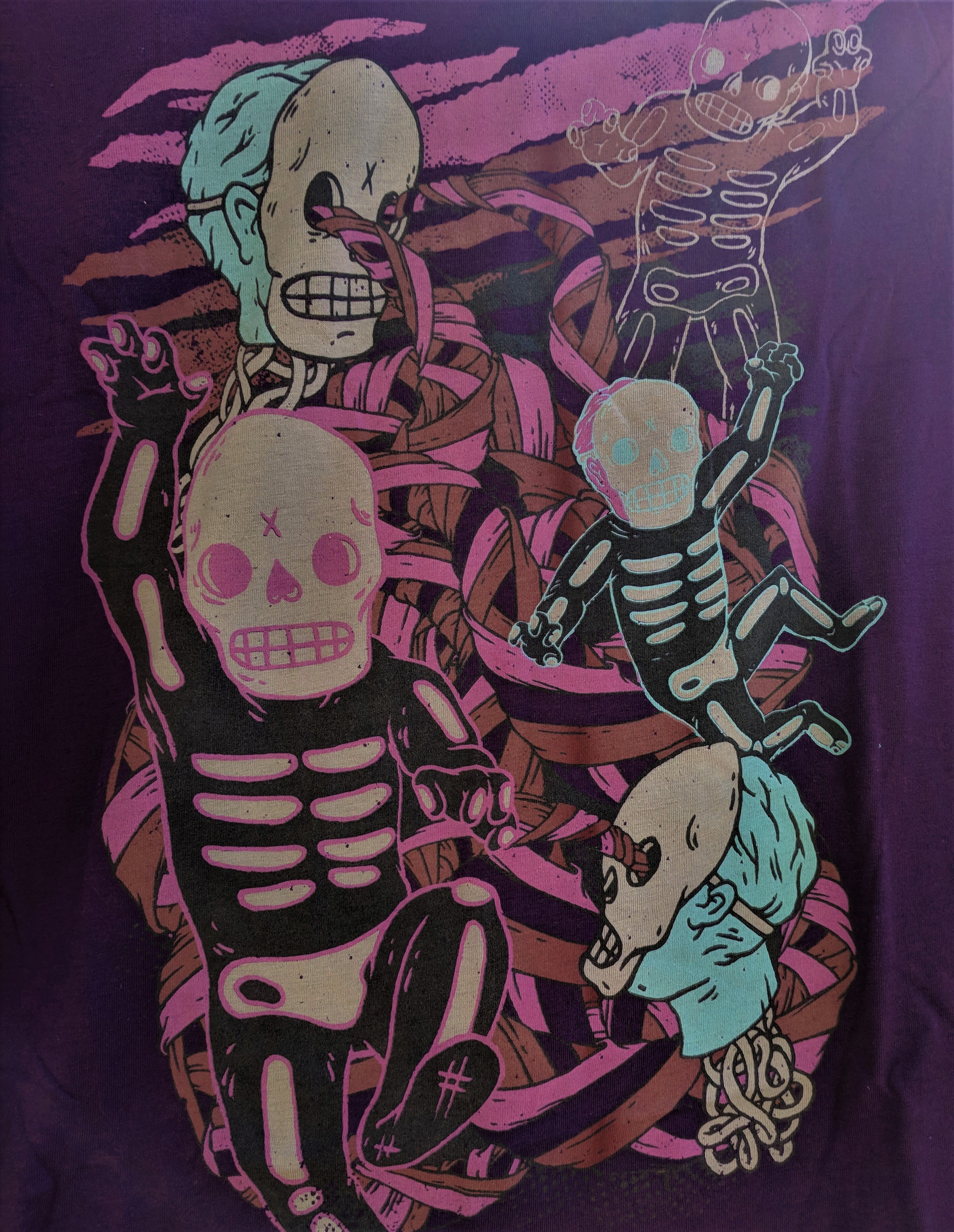 Purple Skeleton T-Shirt