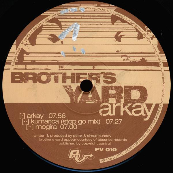 Brother's Yard ‎– Arkay (PV)