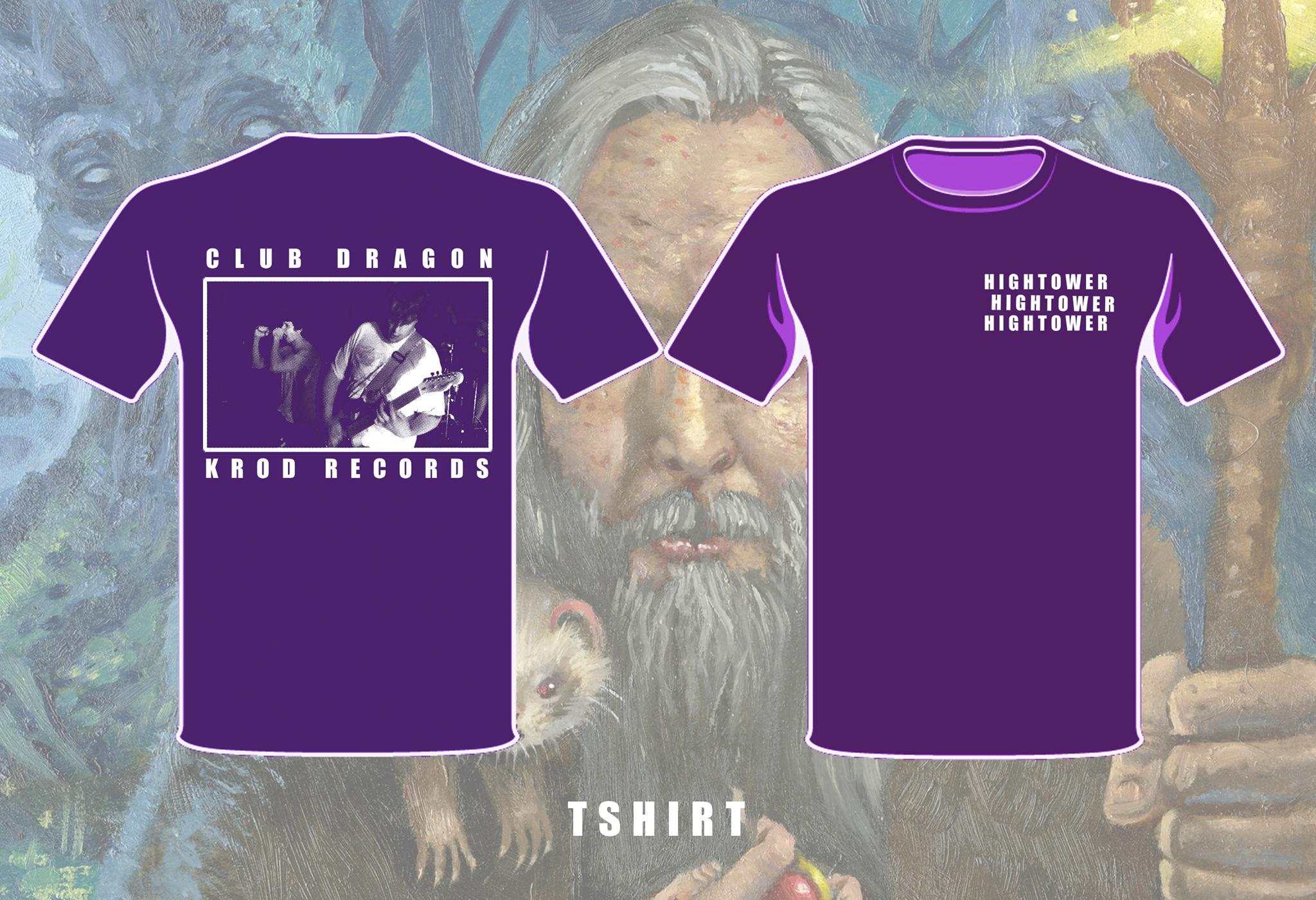Hightower - Purple Club Dragon T-Shirt
