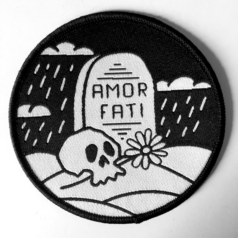 Guerilla Poubelle - patch tissé Amor Fati - tombe