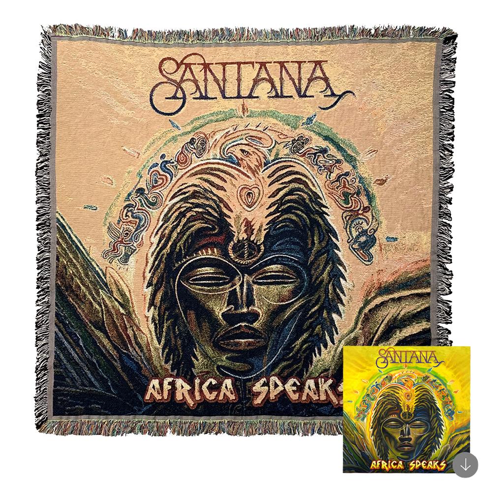 """Africa Speaks Woven Blanket (50"""" x 50"""") + Album Download (optional)"""