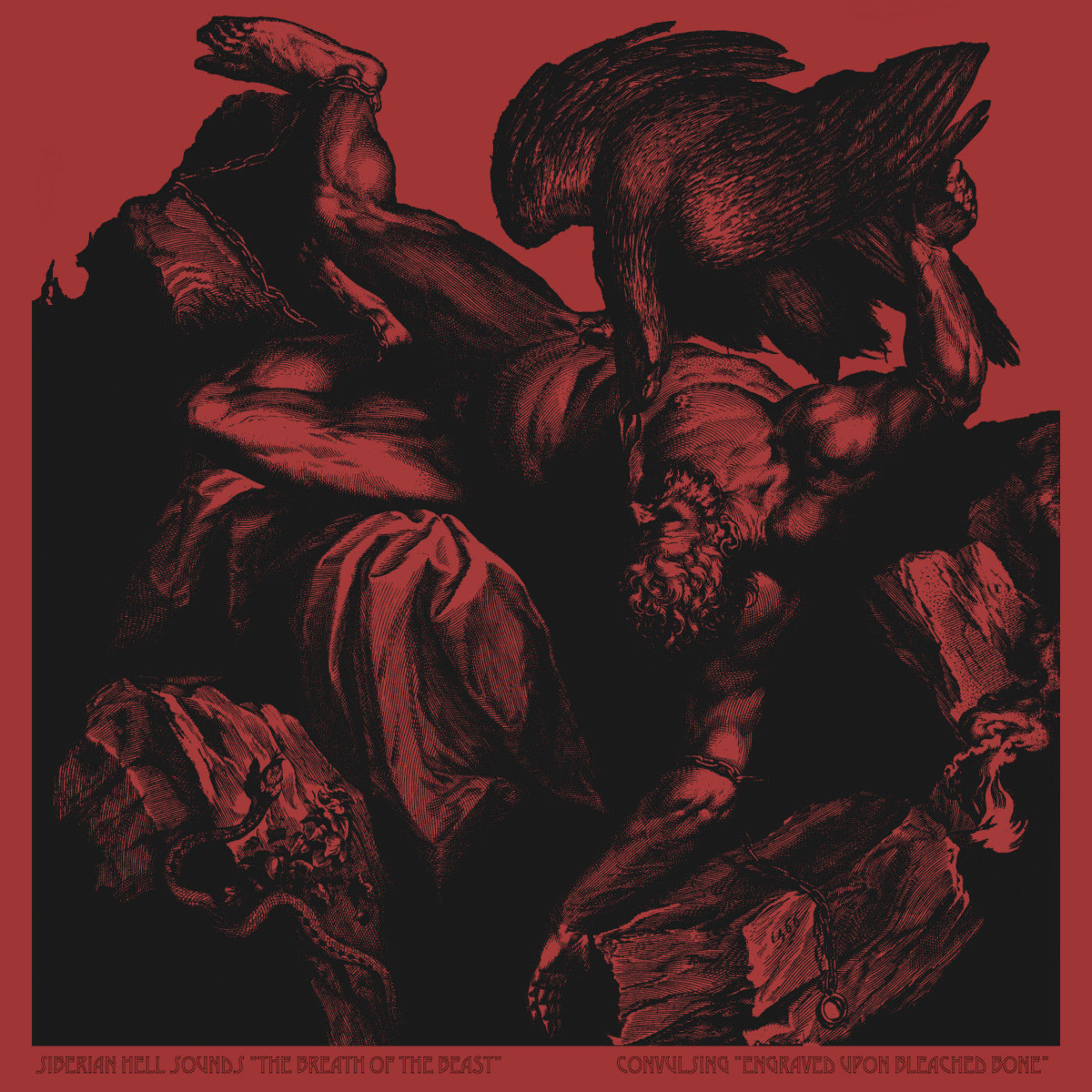 sold out: SIBERIAN HELL SOUNDS / CONVULSING SPLIT LP