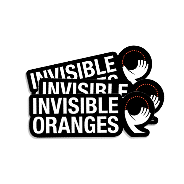 3 x Invisible Oranges Stickers