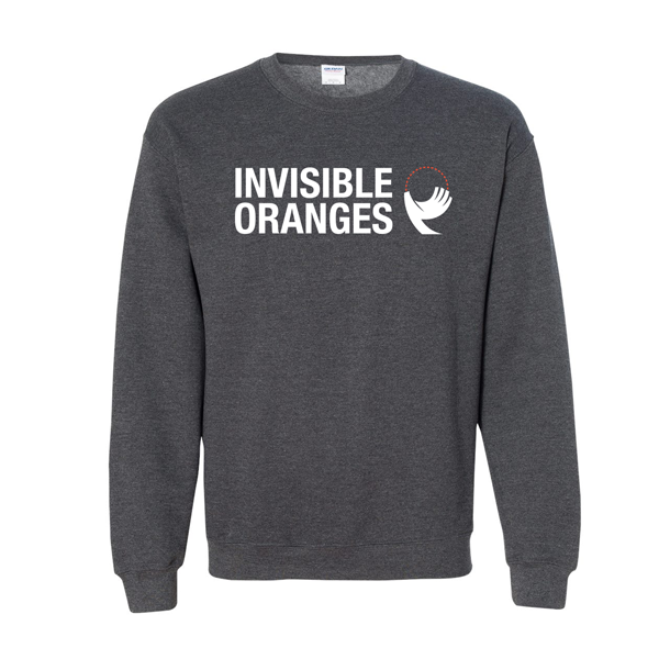 Invisible Oranges Heather Charcoal Logo Sweatshirt