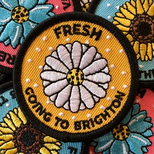 Fresh 'Going To Brighton' Embroidered Patch