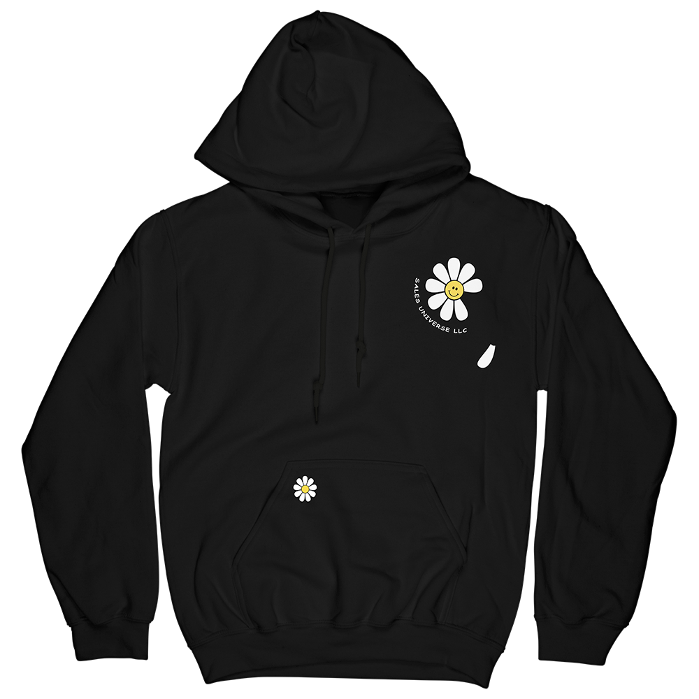 Embroidered Flower Hoodie