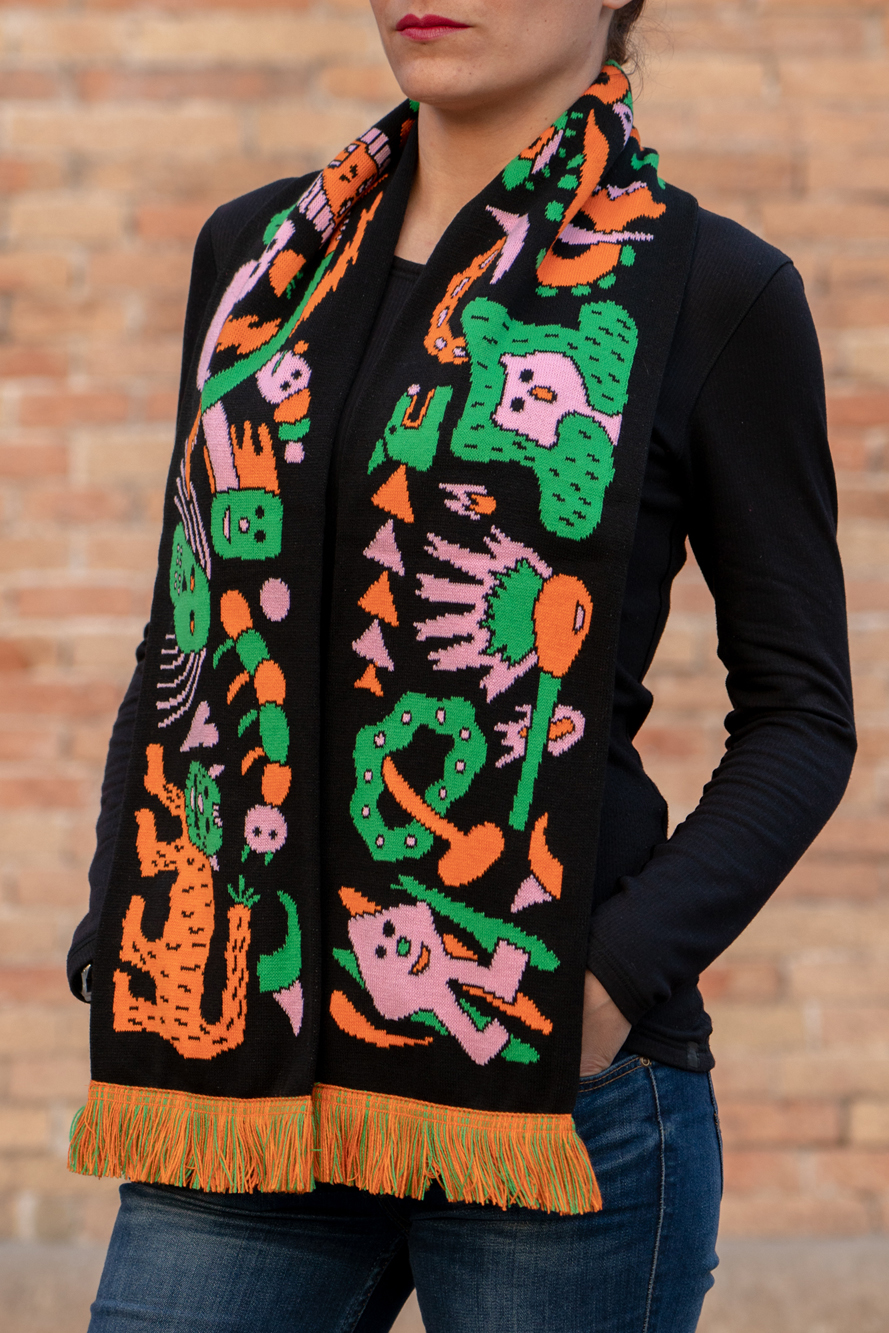 Acid trip scarf by Zosen