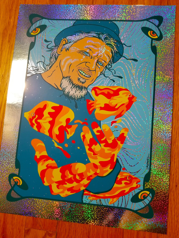 NEW 'Shaman' (Pollock) Art Print (Holographic Sparkle Foil Edition) PHISH