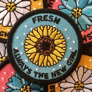 Fresh 'New Girl' Embroidered Patch
